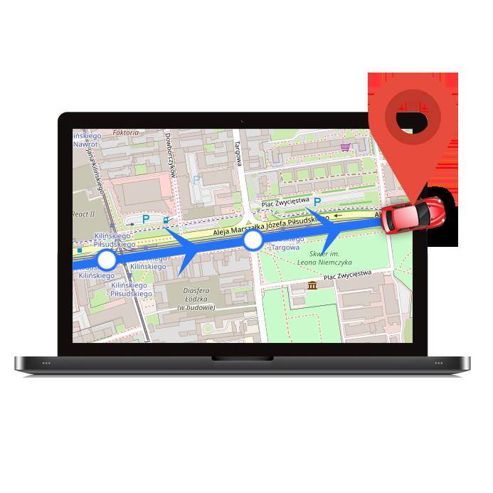 Monitorowanie trasy pojazdu