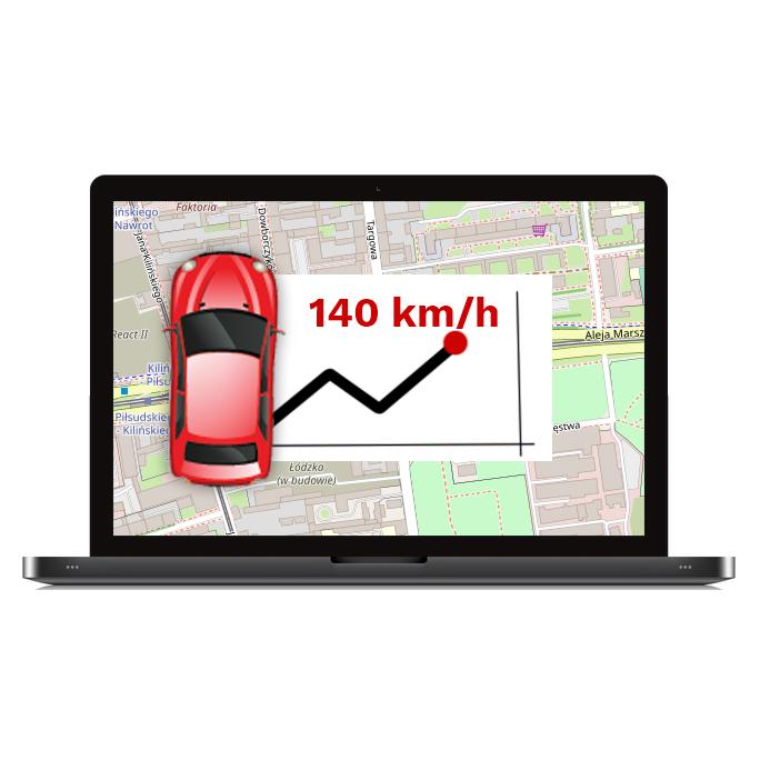 Monitoring gps predkosci pojazdu