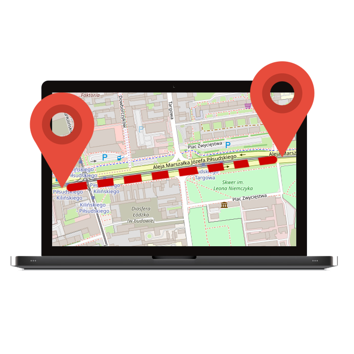 Monitoring pokonanej trasy